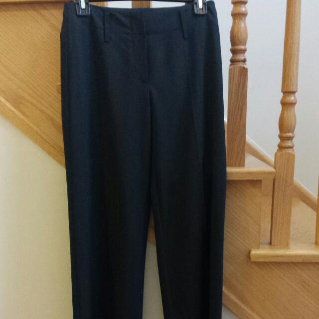 Brand New Hugo Boss Size 0 Wide Leg Wool Dress Pants