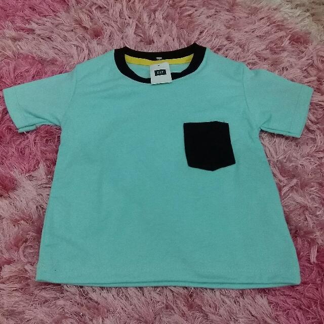 Kaos Polos KantonG GAP Anak Size 1 (Biru Bubble