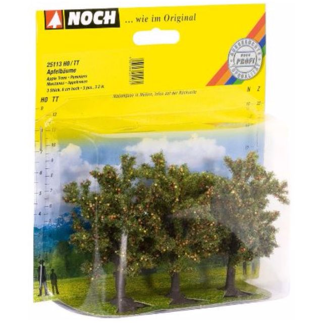 """[H0 1/87] Model Trees """"Apple Trees"""", set of 3 with different shapes [Noch] NEW"""
