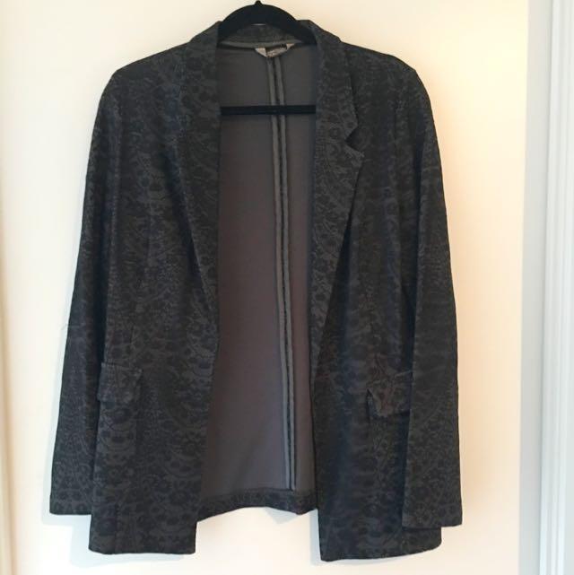Navy & Black Lace Blazer