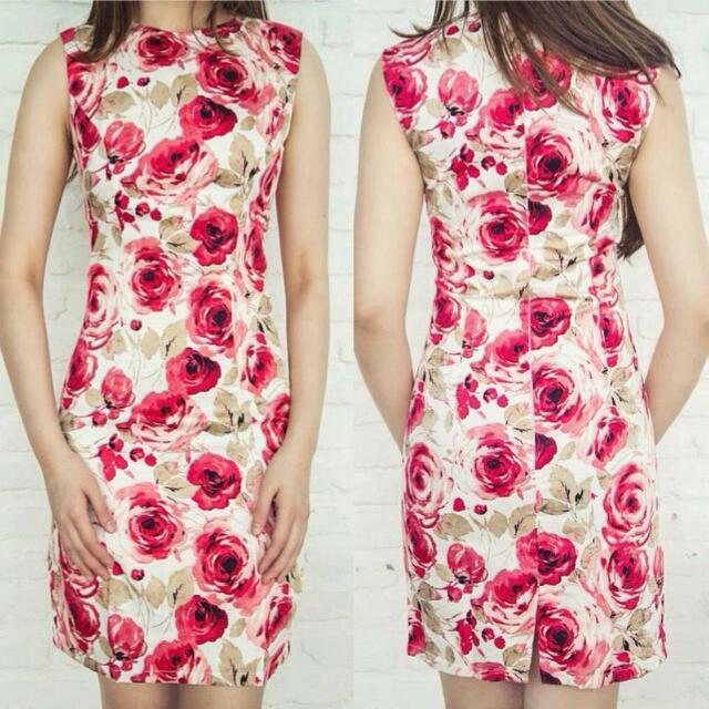 Petite Label Rosette Dress
