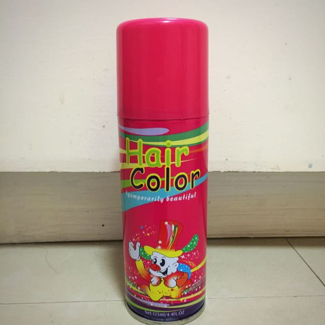 FREE SHIPPING! Pink Color Hair spray