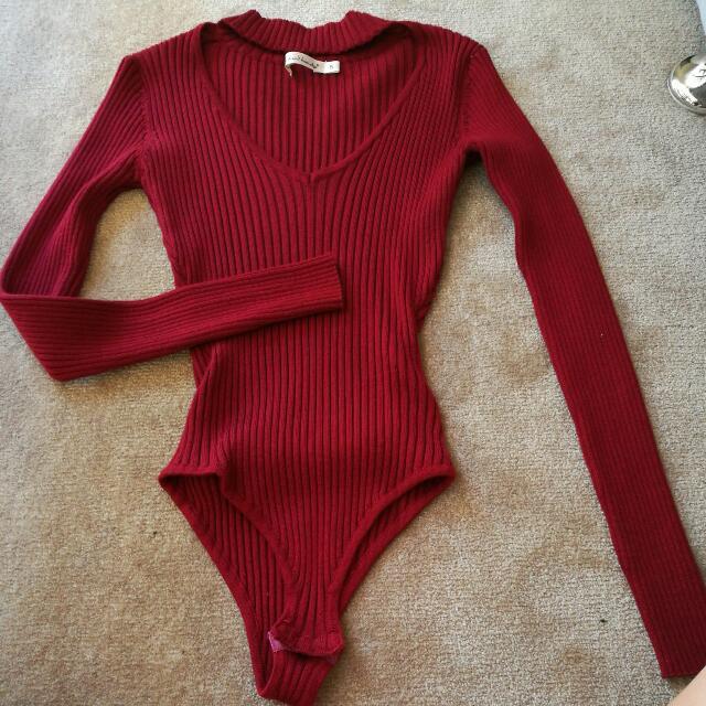 Red Choker Bodysuit