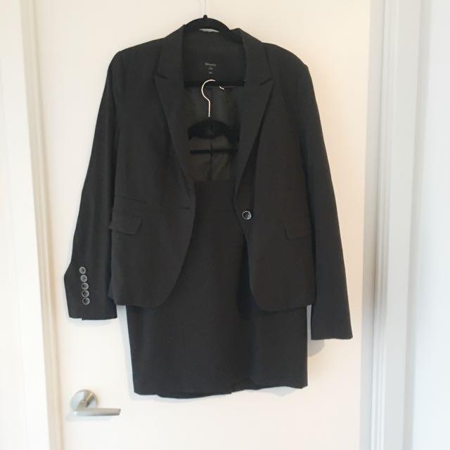 RW&Co Navy Skirt Suit
