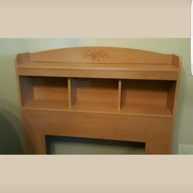 Single Bed Set  Wood Box  With Drawers And Free Matress