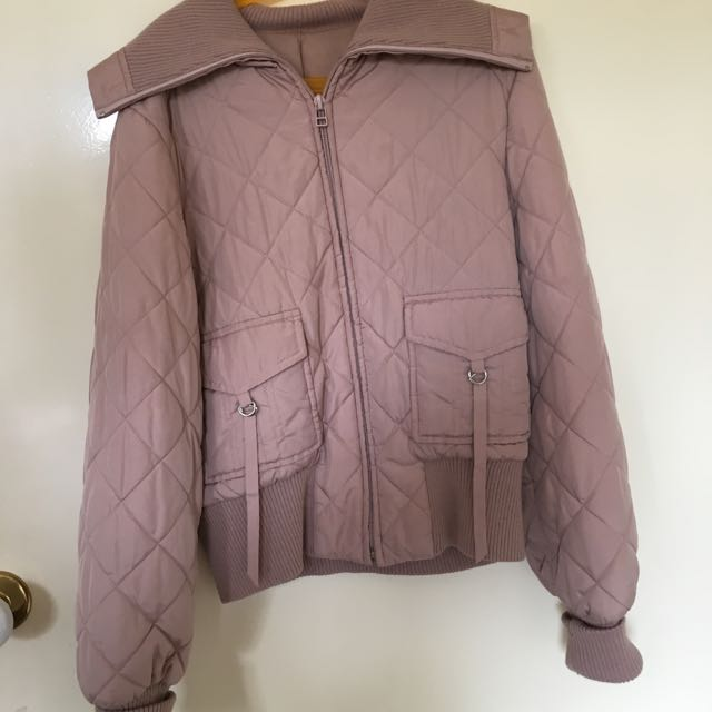 Size 8 Pink Quilted Puffer Jacket
