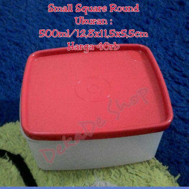 Small Square Round Tupperware