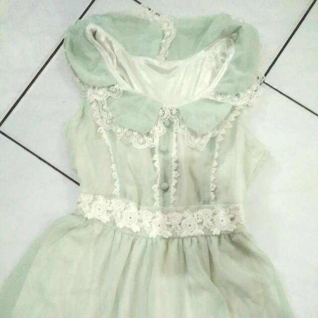 Soft Green Mini Dress