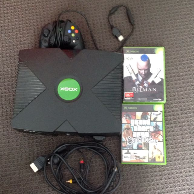 XBOX with 1 Controller & 2 Games