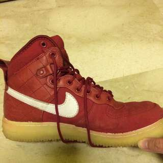 Red Nike Air Force One Xxx