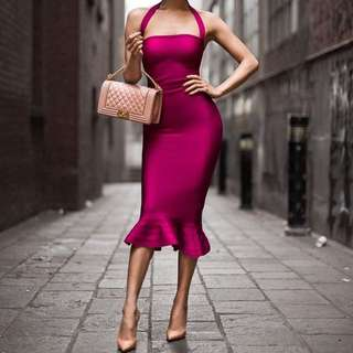 Ladies Bandage Dress Size 6 8 10 Xs S M L