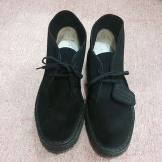 Clarks the original desert boot  克拉克 麂皮 黑色 平底鞋 沙漠靴