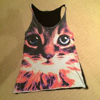 Truly Madly Deeply (urban Outfitters) Cat Tank
