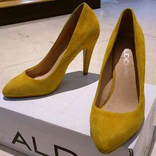 aldo 黃色高跟37