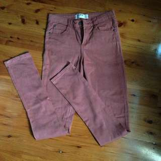 Red Washed Out Jeans