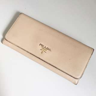 AUTHENTIC PRADA WALLET IN BEIEGE