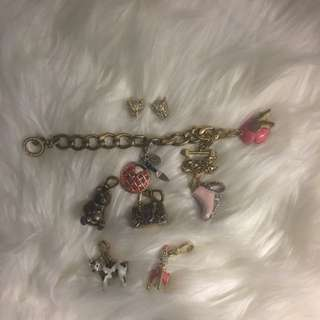 Vintage Juicy Couture Harm Bracelet With Earrings