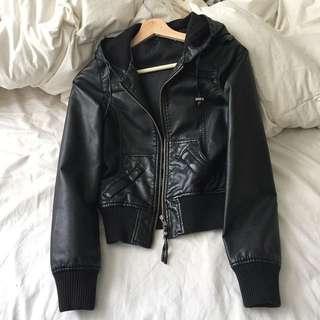 PU Faux Leather Jacket