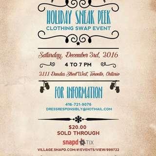 Holiday Sneak Peek Clothing Swap Event