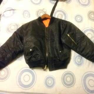 Black Army Bomber Jacket