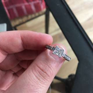 18CT White Gold Triology Engagement Ring