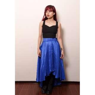 Brand New Blue Mullet Ball Skirt