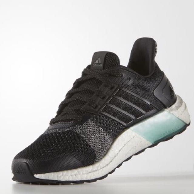 newest f223f f475b 100% Authentic   New Adidas Ultra Boost ST Glow (core black, reflective)  Sold, Sports, Sports Apparel on Carousell