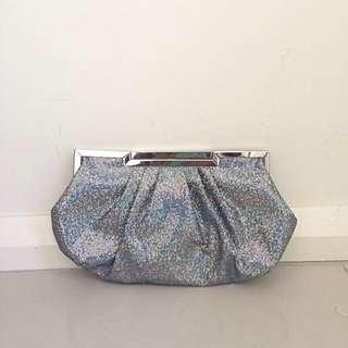 Betts Clutch/shoulder Bag (silver/grey/holo)