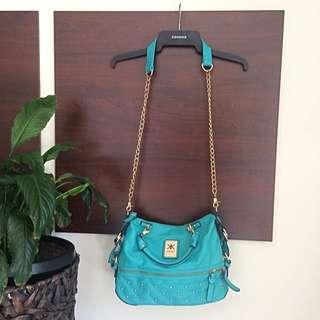 Kardashian Kollection Teal/turquoise Handbag