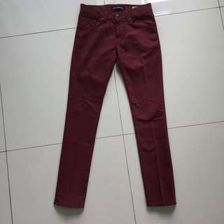 Mavi Jeans   Skinny Fit   Burgundy   29