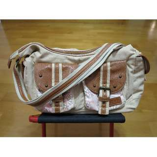 (含運)京都帶回 櫻花多袋口肩/側 背包