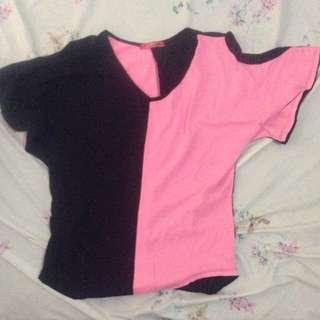 Black-Pink Loose Top
