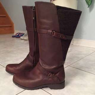 ***Reduced***Chocolate Brown Leather Boots