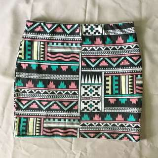 Bershka Tribal Skirt