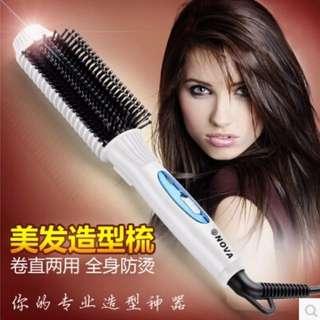 Nova Hair Straightening + curler comb brush 2 in 1