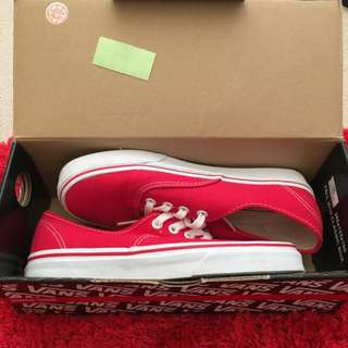 Red Vans 5 Mens// 6.5 Womens