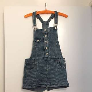 Spotty Denim Overalls