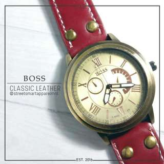 BOSS CLASSIC LEATHER WATCH @ 100.00!