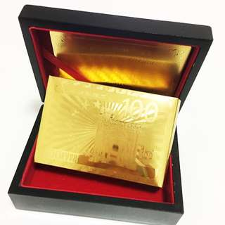 999.9Gold Playing Cards