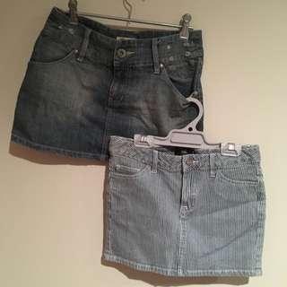 Denim Skirts x2 For $5