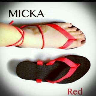 Red sandals (free shipping)