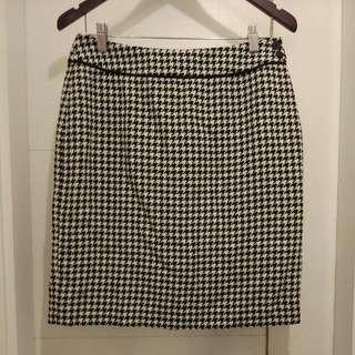 Black N White Houndstooth Skirt