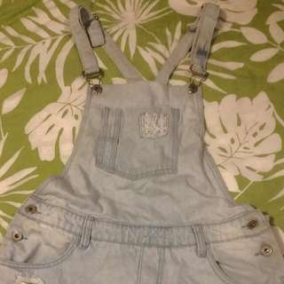 Denim Playsuit Size 8