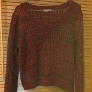 Rivers Burgundy Cropped Jumper Size 16