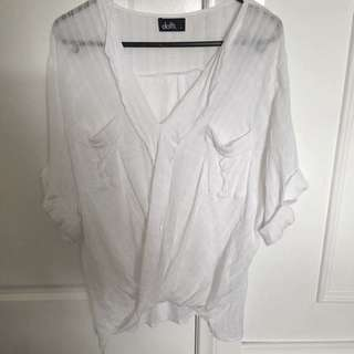 White Dotti Surplice Top