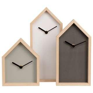 Set of 3 Clocks (30cm/25cm/18cm)