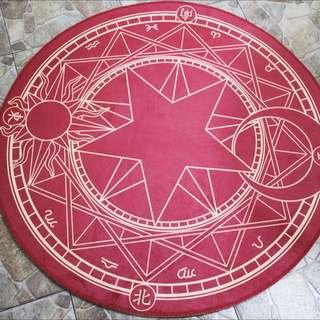庫洛魔法使 小櫻 魔法陣 地毯