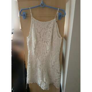Sportsgirl White Jumpsuit Playsuit