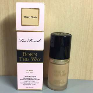 Too faced born this way foundation粉底液#warm nude