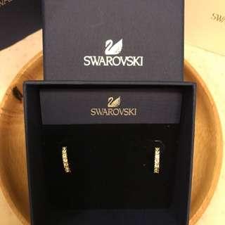 全新 SWAROVSKI 鑽石水晶耳環